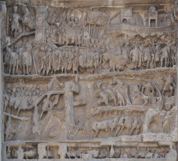 Arch of Severus, Relief west right: the capture of Ctesiphon, relief