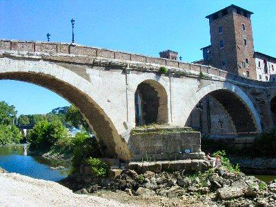 Rome, bridge of Fabricius, from the N