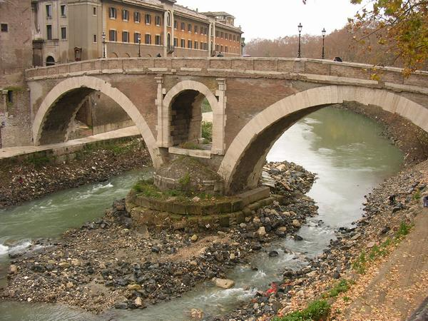 Rome, bridge of Fabricius, from the E