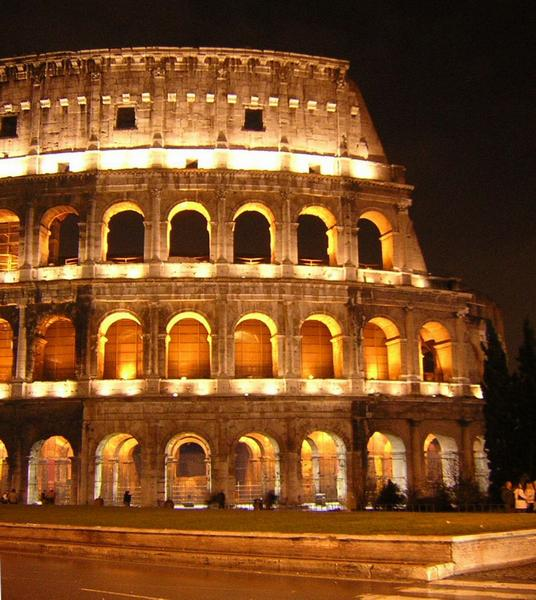 "Amphitheatrum Flavium (""Colosseum"") at night"
