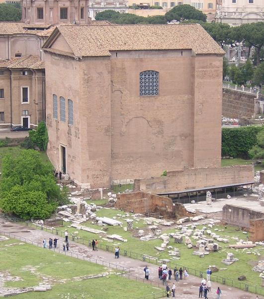 Curia Julia, seen from the Palatine