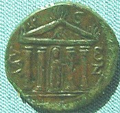 Coin from Myra, showing the temple of Artemis (reign of Gordian)
