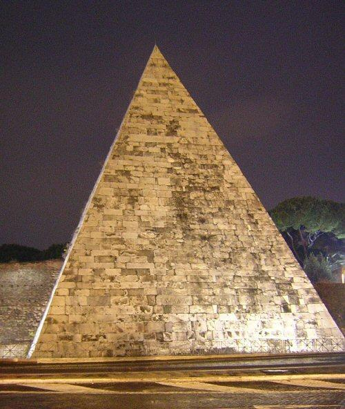 Rome, Pyramid of Cestius from the east