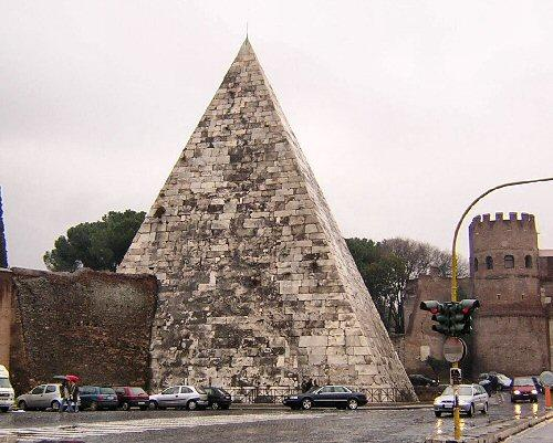 Pyramid of Cestius from S