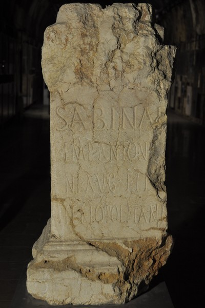 Baalbek, Dedication to Sabina