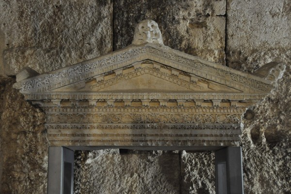 Baalbek, Pediment of a small sanctuary