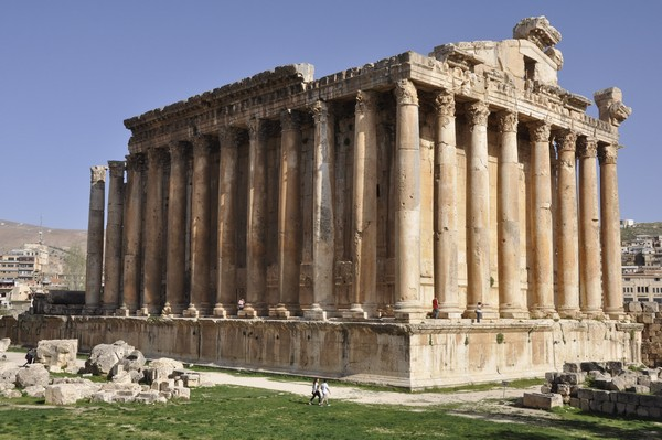 Baalbek, temple of Bacchus, exterior (1)
