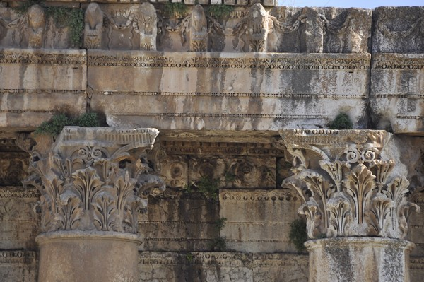Baalbek, temple of Bacchus, exterior (2)