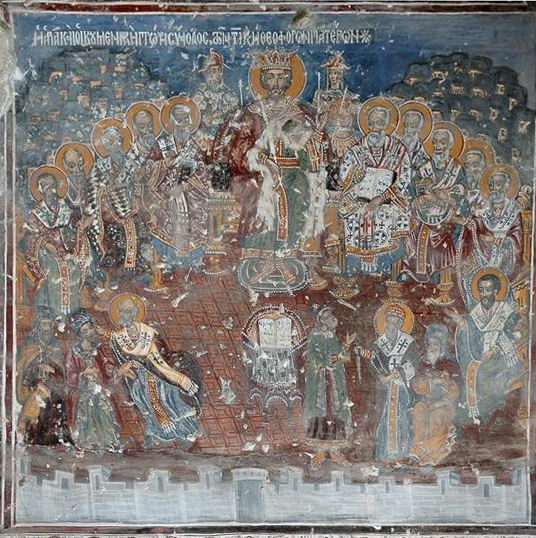 Soumela, Wall paintings: the Council of Nicaea