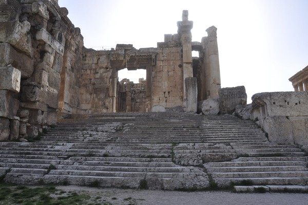 Baalbek, stairs towards the temple of Bacchus