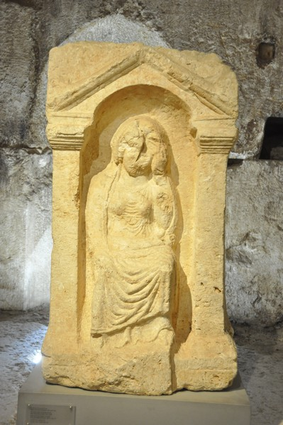 Baalbek, temple of Venus, relief of a mourning woman