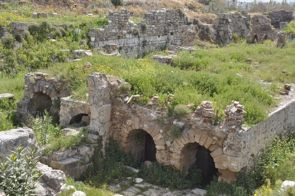 Tyre, city, baths, substructure