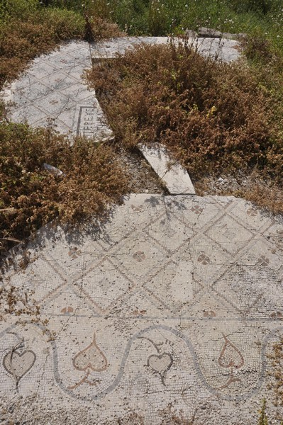 Tyre, city, Mosaic Road, Byzantine mosaic pavement