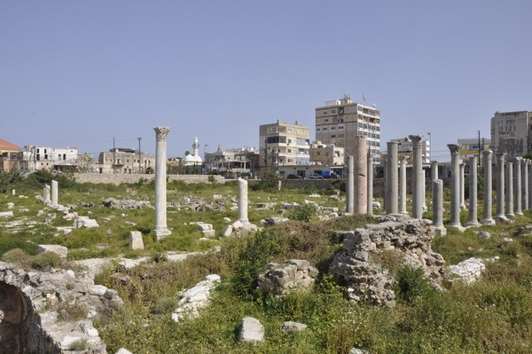 Tyre, city, portico surrounding the octagonal building from the south