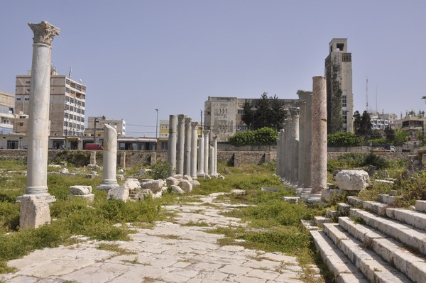 Tyre, city, southeastern portico surrounding the octagonal building