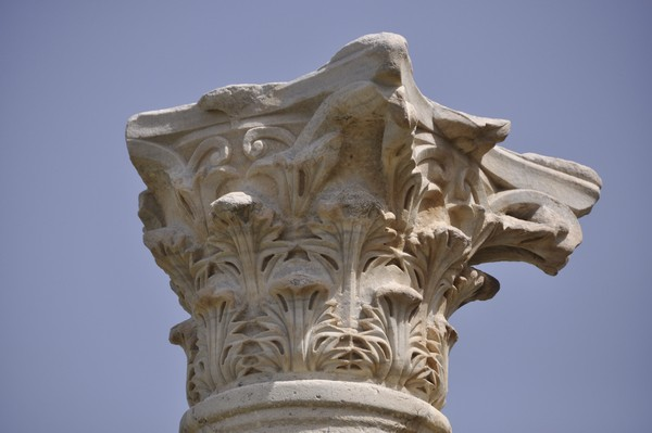 Tyre, City, Octagonal building, Surrounding portico on the southeastern side, Corinthian capital