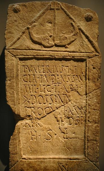 Lincoln, Tombstone of Valerius of II Adiutrix