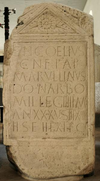 Tombstone of Gn. Coelius of IIII Macedonica