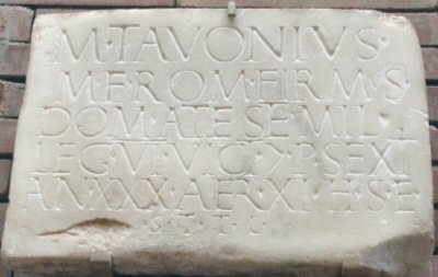 Mérida, Tombstone of Tavonius of VI Victrix (EDCS-0970149)