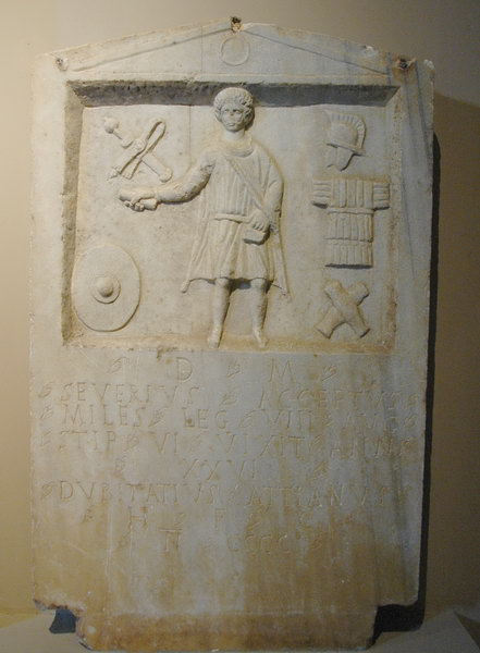 Chalcedon, Tombstone of Severius Acceptus of VIII Augusta