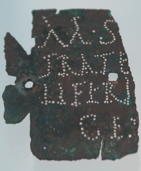 Nijmegen, inscription of an aquilifer of X Gemina