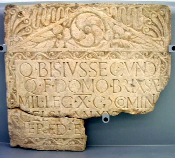 Inscription of Bisius of X Gemina