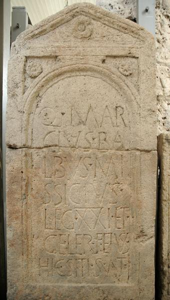 Tombstone of Quintus Marcius of XXI Rapax