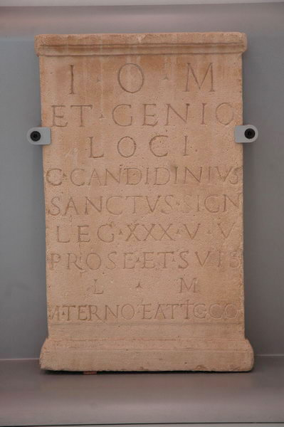 Dedication by Candidinius, signifer of XXX Ulpia Victrix