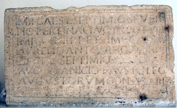 Bu Njem, Dedication to Septimius Severus and sons