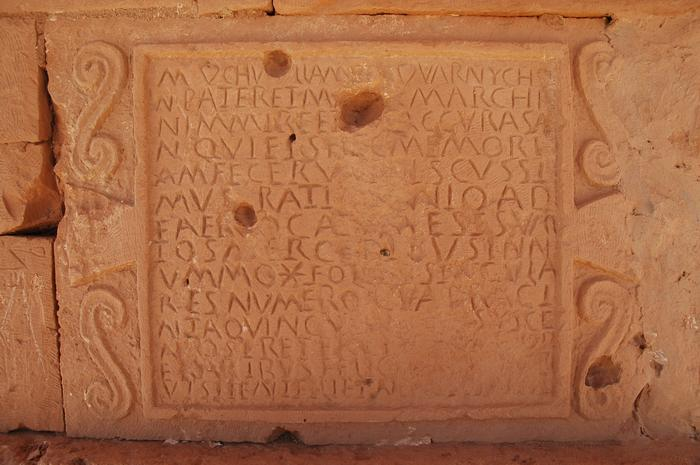 Ghirza, Mausoleum North C, inscription