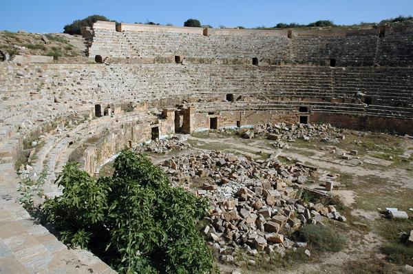 Lepcis Magna, Amphitheater, arena