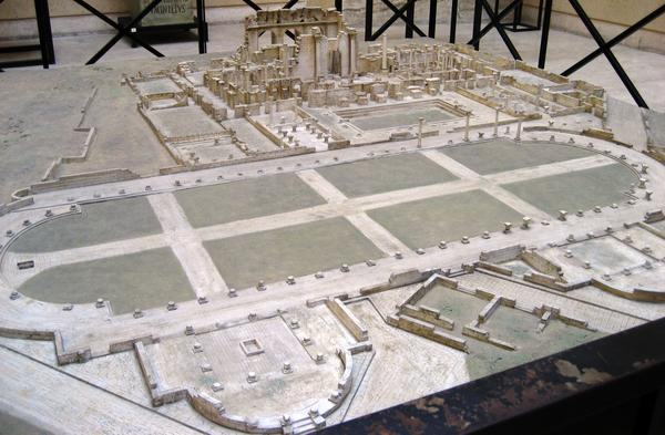 Lepcis Magna, Hadrianic Baths and Palaestra, model