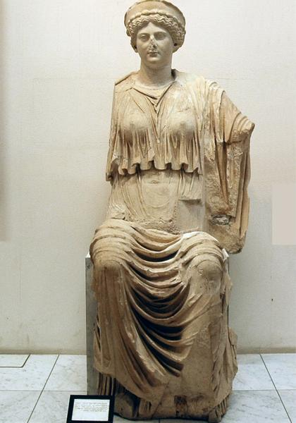 Lepcis, Theater, statue of Ceres Augusta with the features of Livia