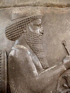 Darius, relief from the Central Relief of the Northern Stairs of the Apadana, Persepolis