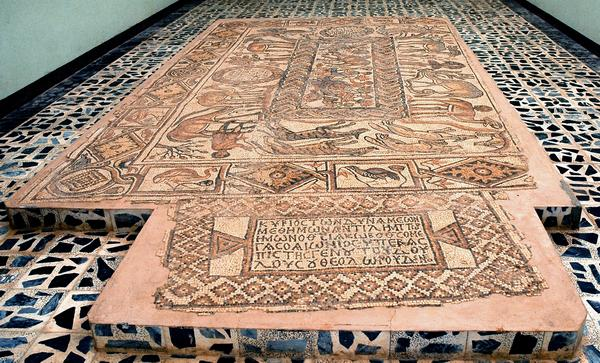 Qasr Libya, East church, annex mosaic
