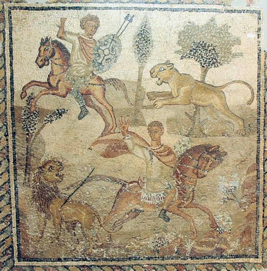 Villa of the Nile Mosaic, Hunting scene (2)