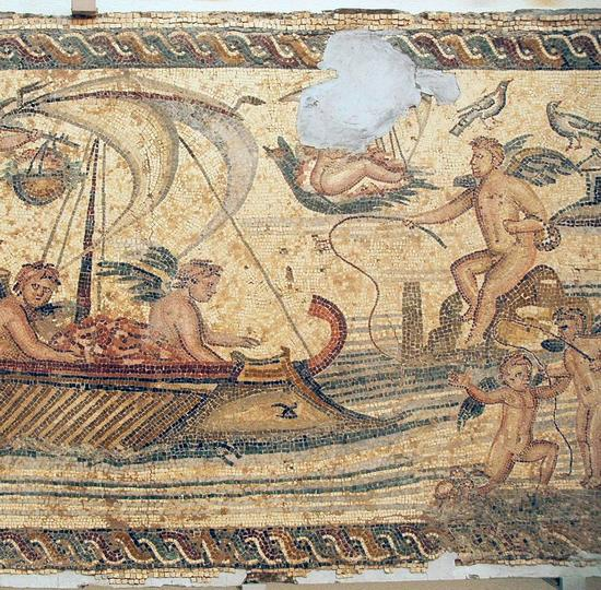 Villa of the Nile Mosaic, first mosaic (2)
