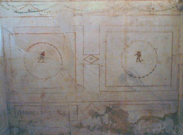 Villa Selene, bedroom, wall painting