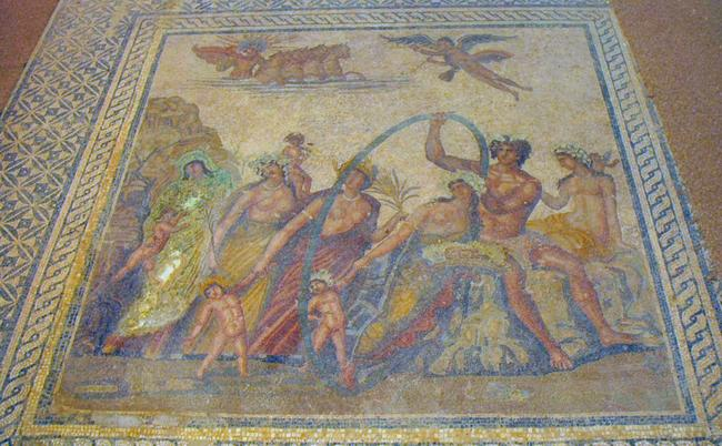 Villa Selene, mosaic of the Four Seasons