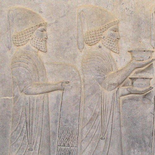 Two Babylonians. Relief from the eastern stairs of the Apadana at Persepolis.