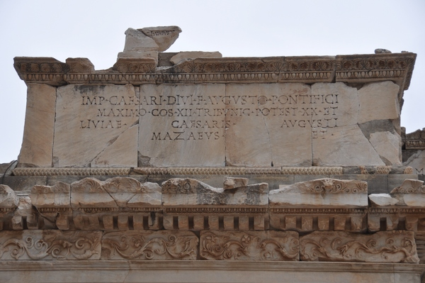 Ephesus, Gate of Mazaeus and Mithridates, inscription (1)