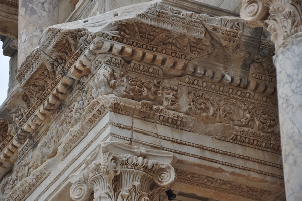 Ephesus, Library of Celsus, decoration (1)