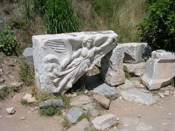 Ephesus, Street of the Curetes, relief of Nike
