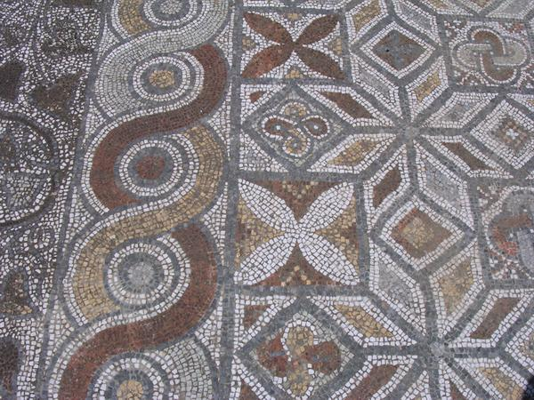 Ephesus, Street of the Curetes, mosaic