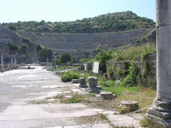 Ephesus, theater, seen from the Arcadian Road