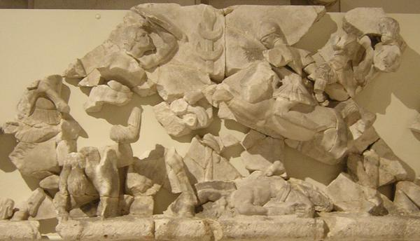 Ephesus, theater, decoration, mythological scene