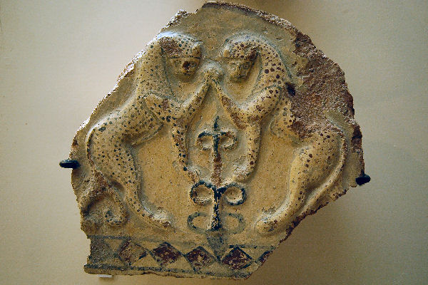 Gordium, antefix with two leopards
