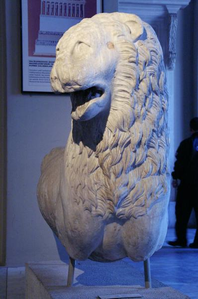 Mausoleum of Halicarnassus, lion (1)