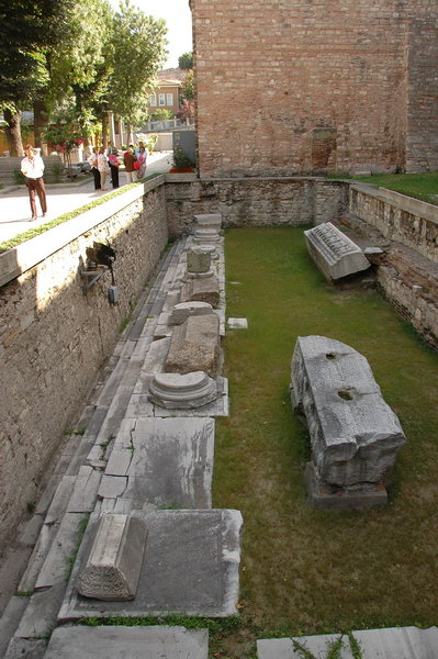 Hagia Sophia, remains of the Theodosian church
