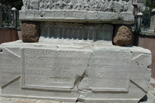 Constantinople, Hippodrome, First Obelisk, Pedestal, SE2, inscription
